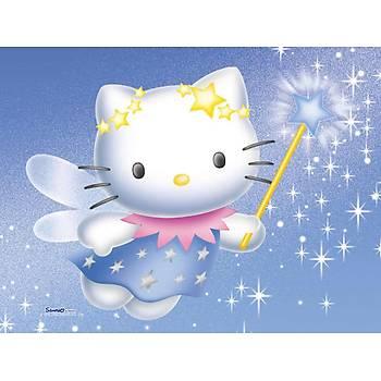 Hello Kitty Peri Gofret Üstüne Resim