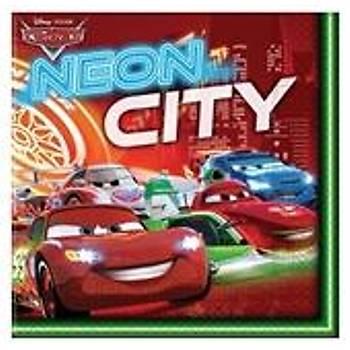 Cars Neon Doðum günü Peçetesi