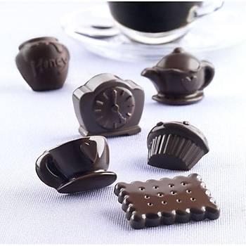 Çay Saati temalý çikolata kalýbý