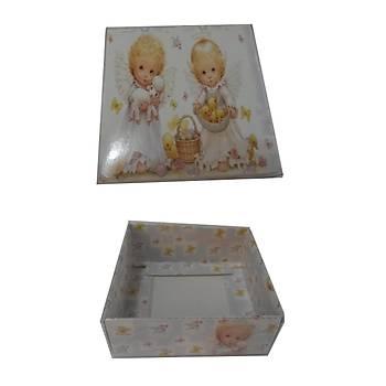 Bebek  Desenli Sabun Kutusu  8 x 8 x3 cm 50 adet