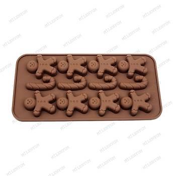 Gingerman Yýlbaþý Bastonu Çikolata Kalýbý