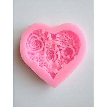 Hearts Rose  Silikon þeker hamuru kalýbý