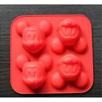 Mickey Mouse Silikon Kek Kalýbý