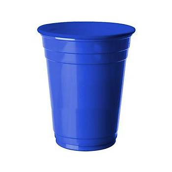 Koyu Mavi Plastik Bardak 8 adet