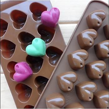 Kalp Çikolata Kalýbý