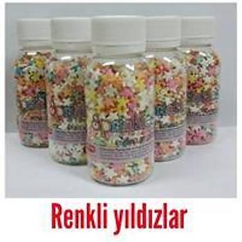 Renkli Yýldýzlar Sprinkles 40 gr.