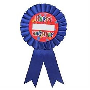 Happy Birthday Lacivert Parti Rozeti
