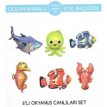 Okyanus Canlýlarý Folyo Balon Seti