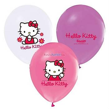 Hello Kitty Baskýlý Latex  Parti Balon 5ad