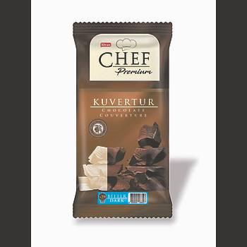 Chef Premium Mini Bitter Kuvertür 200 Gr.