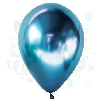 Mavi Krom Balon 5Adet