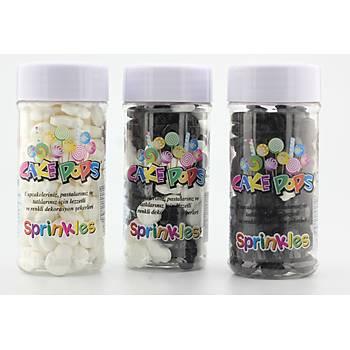 Siyah Kuru Kafa Draje Sprinkles 40 gr.
