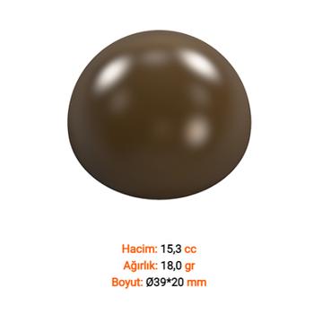 Yarým Daire 15 li Çikolata Kalýbý