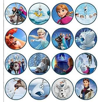 Frozen Ailesi Cupcake  Þekerli Kaðýda Baský