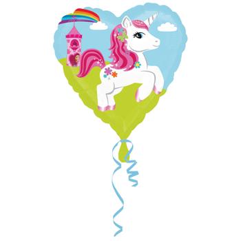 Unicorn Kalp Folyo Balon