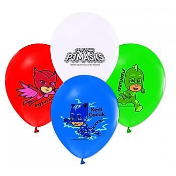 PjMasks Baskýlý Latex  Balon 5ad