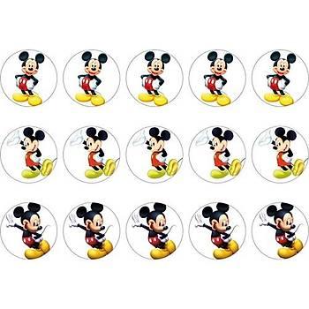 Mickey Cupcake Kurabiye Üstü Resim