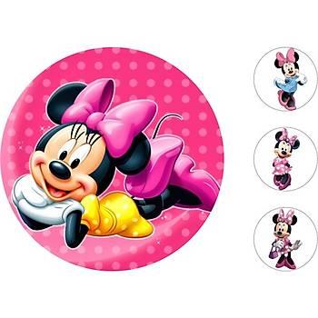 Minnie Mouse Pasta Kurabiye Üstü Resim