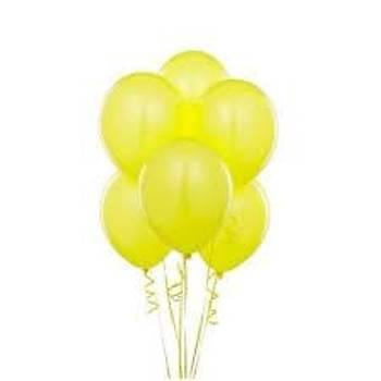 Sarý Lateks Balon 5adet