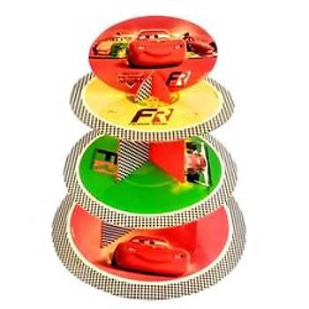 Cars Arabalar Cupcake Standý
