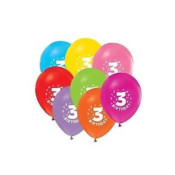 3 yaþ Doðum Günü Balonu 5 AD