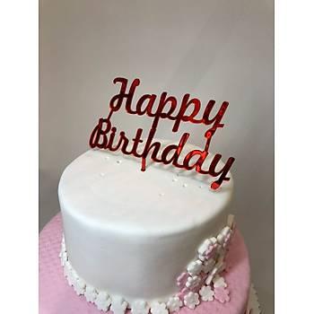 Happy Birthday Kýrmýzý Pleksi yazý