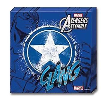 Captain America Doðum günü Peçete 20 Ad.