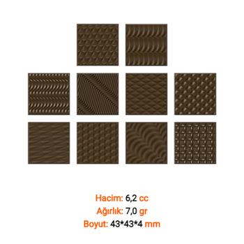 Madlenler Desenli Çikolata Kalýbý