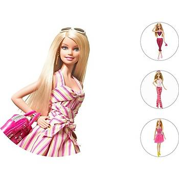 Barbie Pasta Kurabiye Üstü Resim