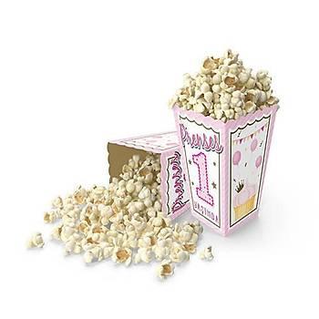 1 yaþ Pembe  Popcorn Mýsýr Kutusu 10 ad.