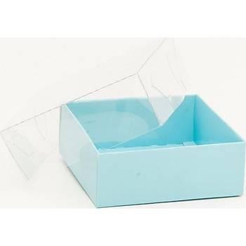 Mavi Asetat Kutu 8x8x3 cm 5ADET