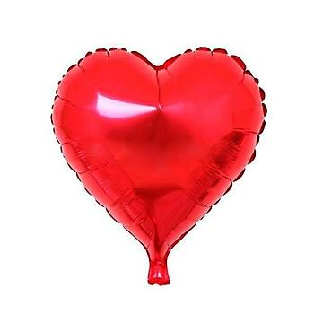 Kýrmýzý Kalp Folyo Balon 60 cm