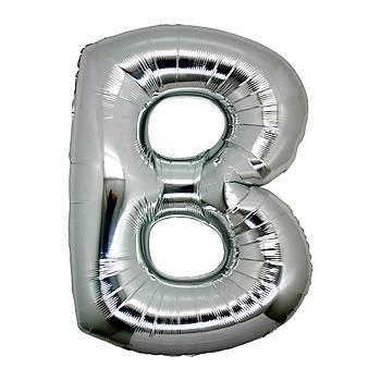 B Harfi Gümüþ Folyo Balon 1 metre