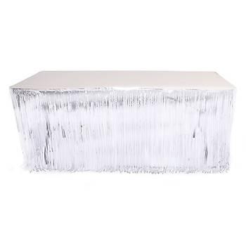 Funko Saçak Beyaz Masa Eteði  4 m x 73 cm
