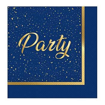 Party Lacivert Peçete 20 ad