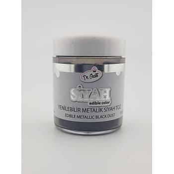 Yenilebilir Metalik SiyahToz Boya 10 gr