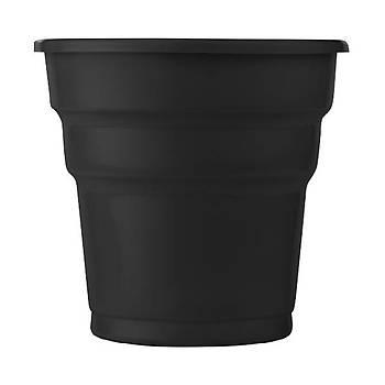 Siyah Plastik Meþrubat Bardaðý 8 li
