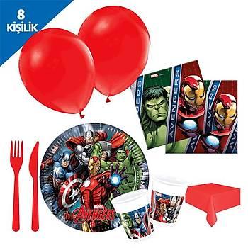 Avengers Parti Seti (8 Kiþilik Set)