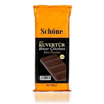 Schöne Bitter Kuvertur Çikolata 200gr