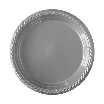 Gümüþ Plastik Tabak 22 cm 10lu