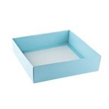 Bebe Mavi  Çerçeve Kutusu Karton Kutu  15x 15 x3 cm  5 adet