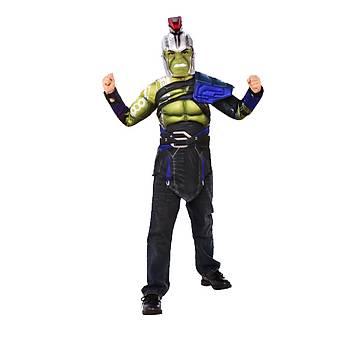 Hulk Üst Plastik Maskeli Kostüm