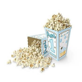 1 yaþ Mavi Popcorn Mýsýr Kutusu 10 ad.
