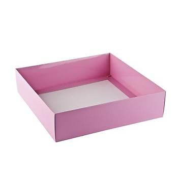 Pembe Çerçeve Kutusu Karton Kutu  15x 12 x3 cm  5 adet