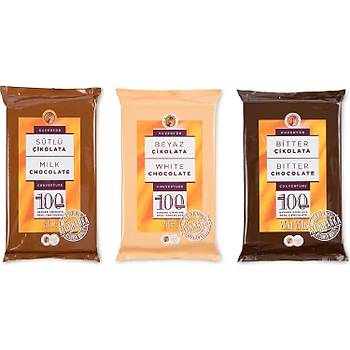 Bitter  Sütlü Beyaz Kuvertür Çikolata Muhteþem Set