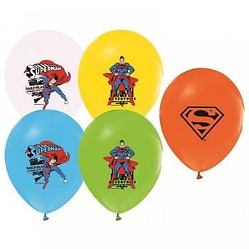 Superman Baskýlý Latex Balon 5ad