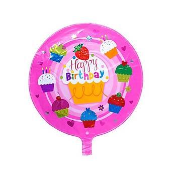 Happy Birthday Cupcake Folyo Balon