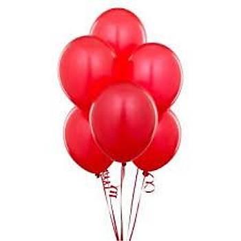Kýrmýzý Lateks Balon 5adet