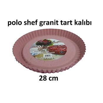Granit Pembe Turta Kalýbý 28 cm