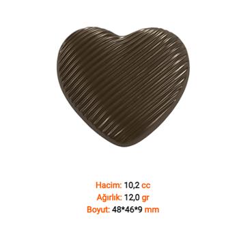 Spiral Kalp Çikolata Kalýbý
